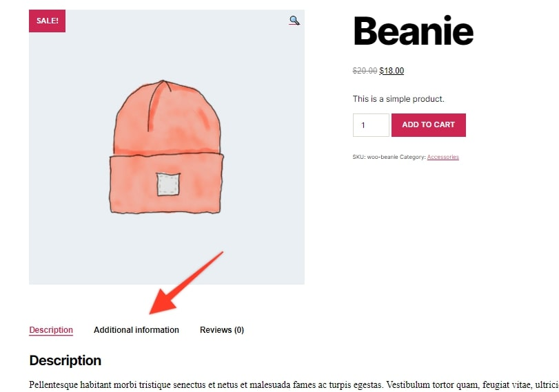 WooCommerce Remove Additional Information Tab-Single Product